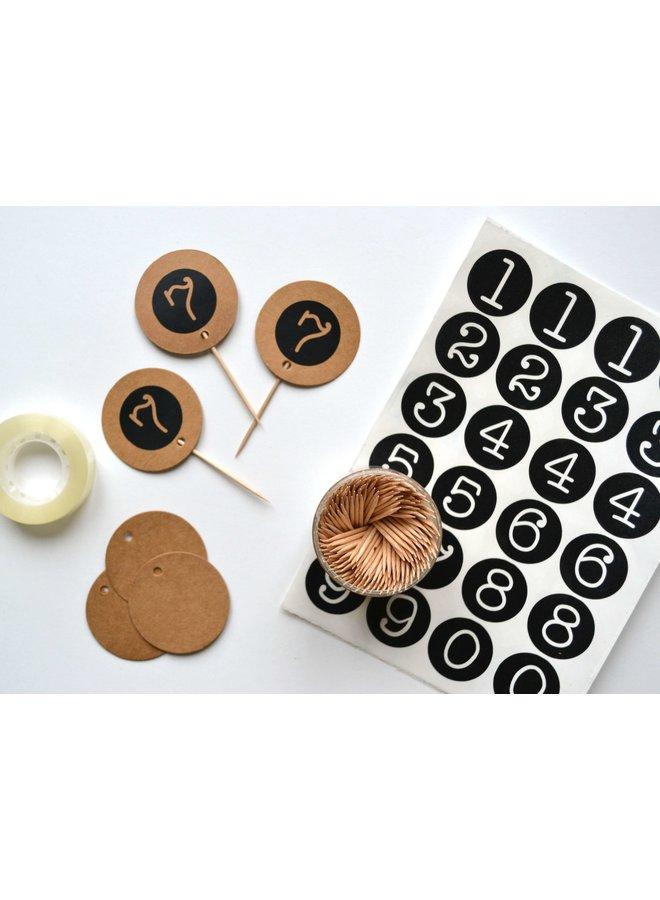 Stickers cijfers cirkel