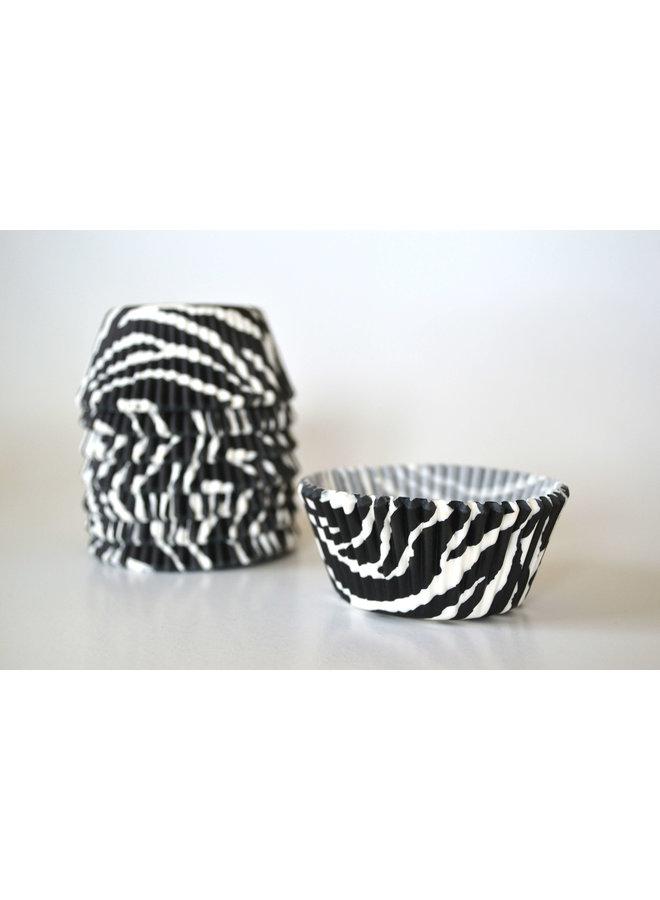 Muffinvormpjes zebra 25st