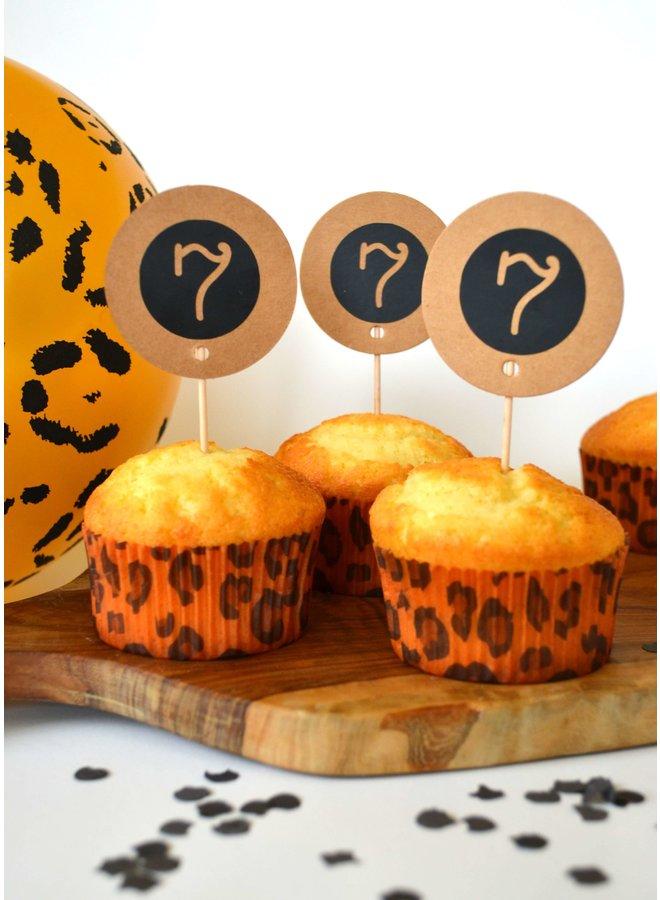 Muffinvormpjes luipaard 25st