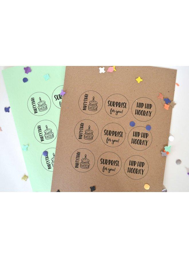 Printable Cadeaulabels Feest 2