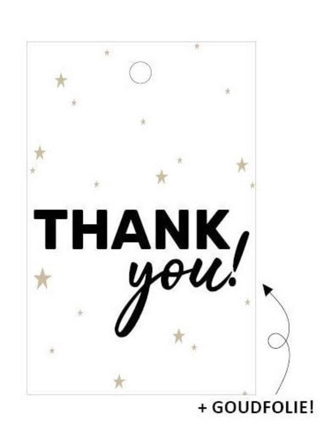 Cadeaulabel Thank you! 5x
