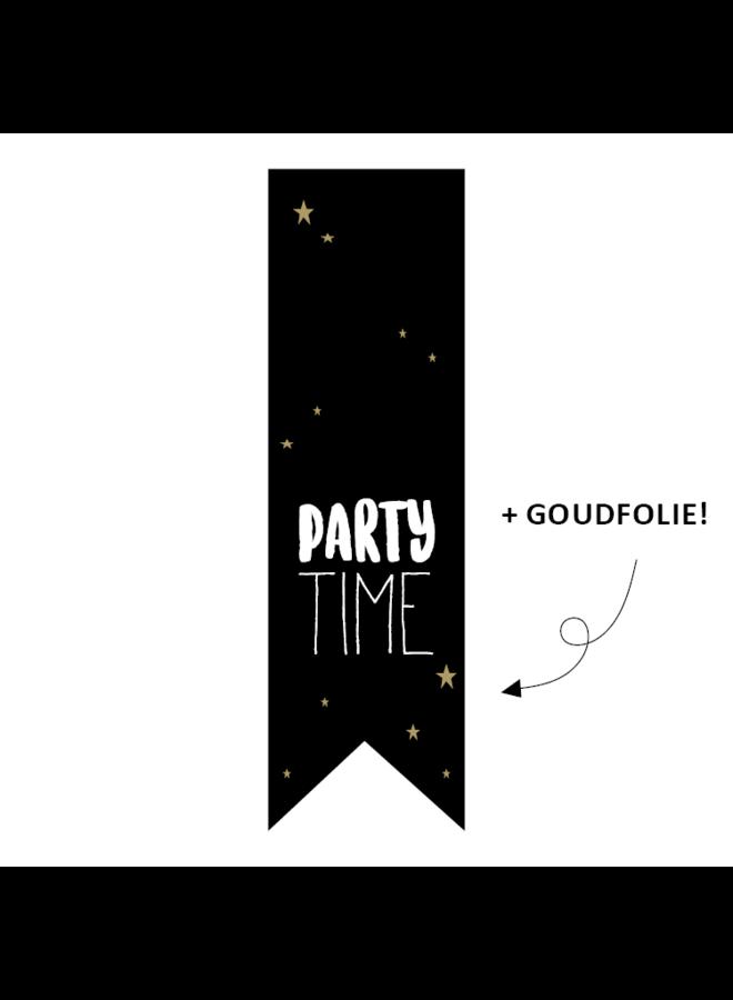 Sluitsticker vaantje - Party time 5x