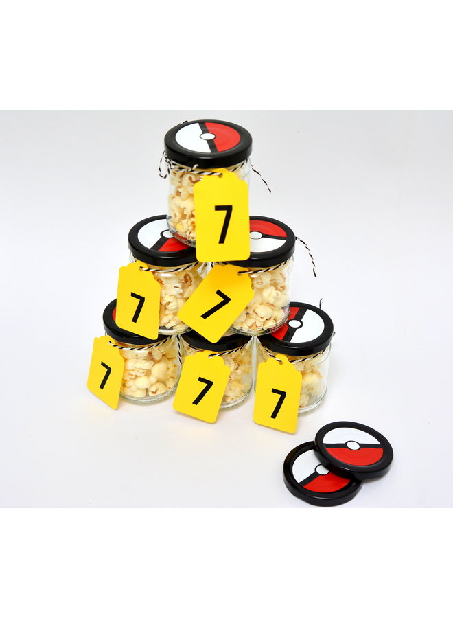 Stickers voor een Pokemon traktatie