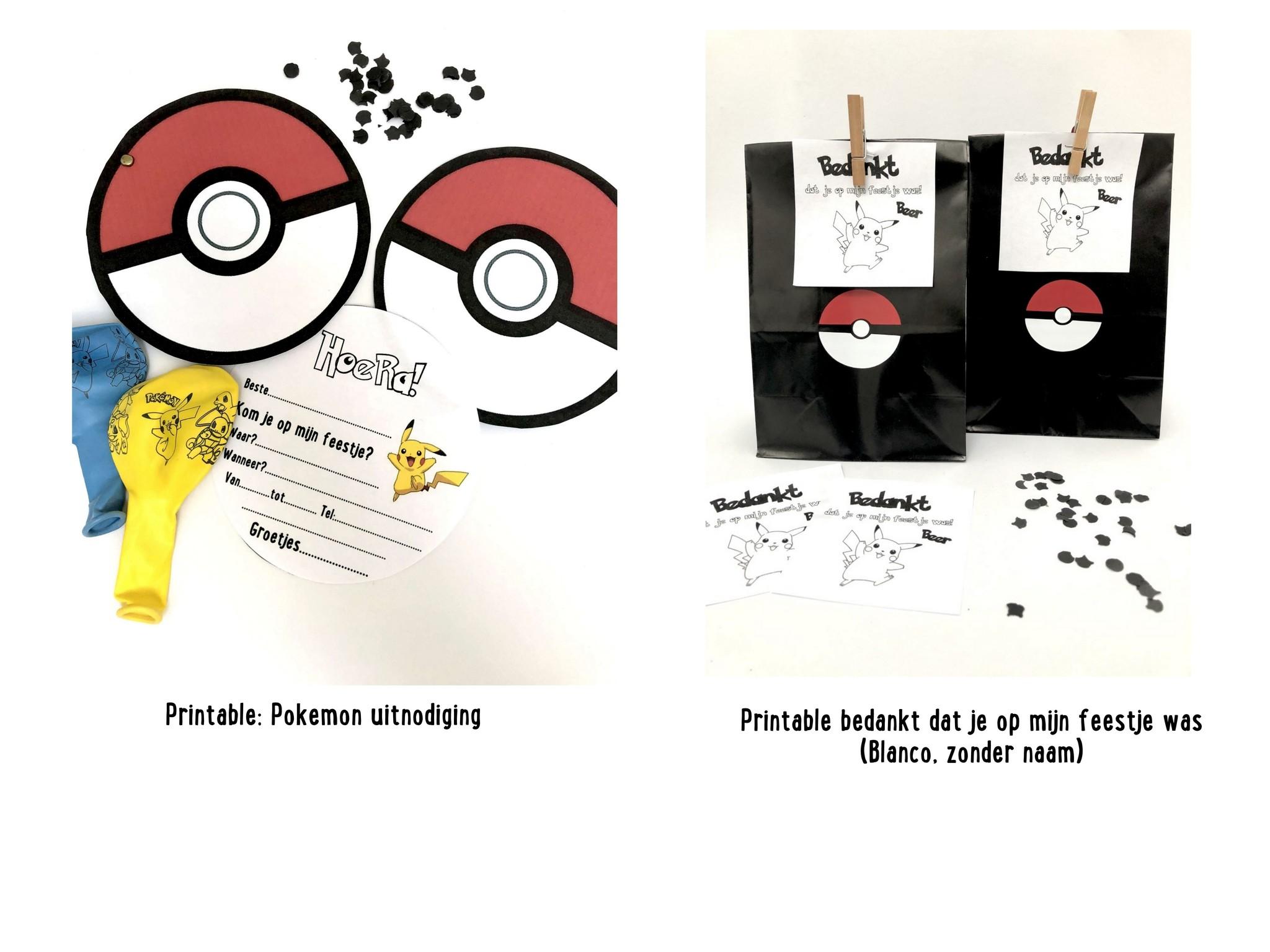 Stickers Voor En Pokemon Traktatie Suzyb