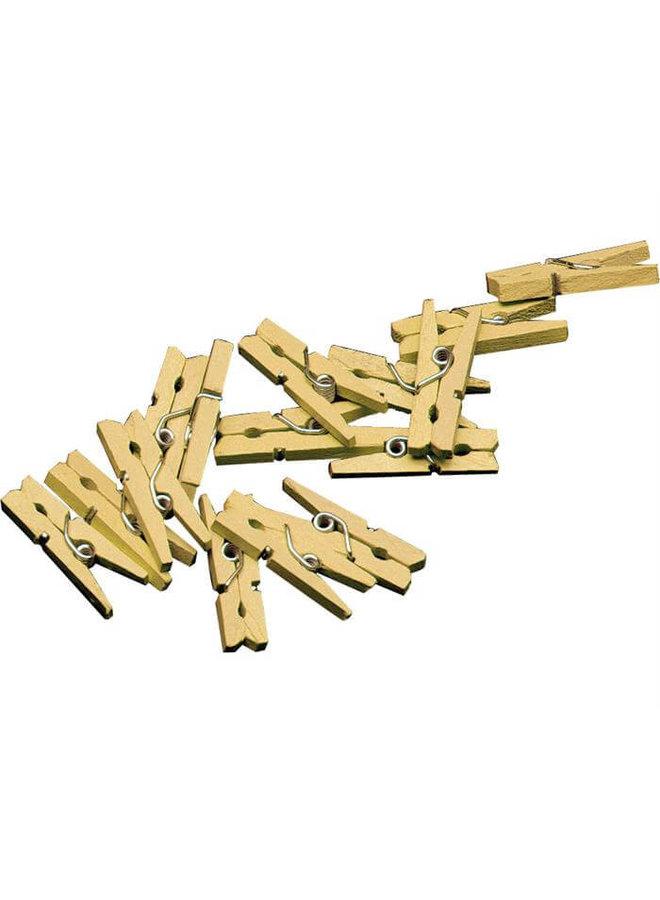 Mini knijpertjes goud 20x