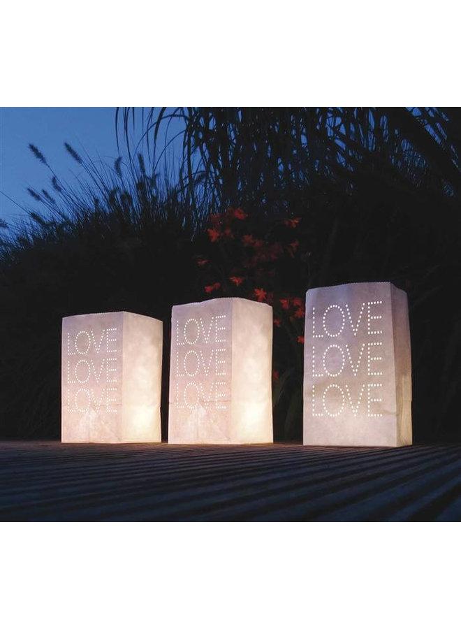 Lichtzakjes Love 5 stuks