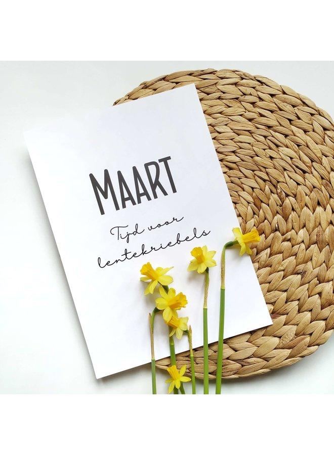 Printable kalender en poster maart