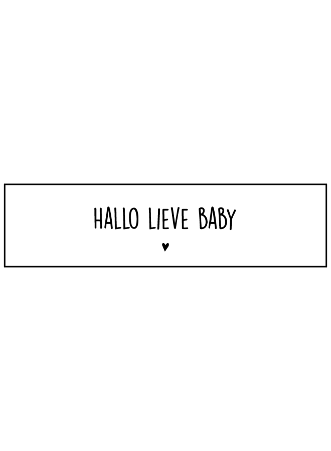 Sluitsticker - Hallo lieve baby 10x