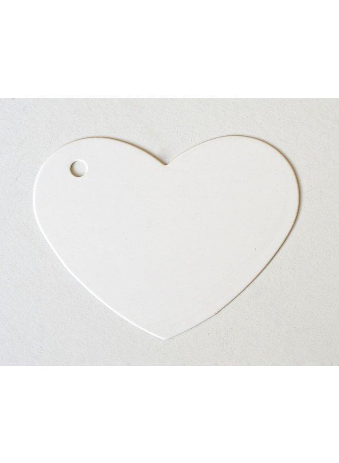 Label hart wit 5x