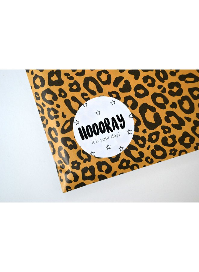 Sluitsticker - Hooooray it is your day! 10x