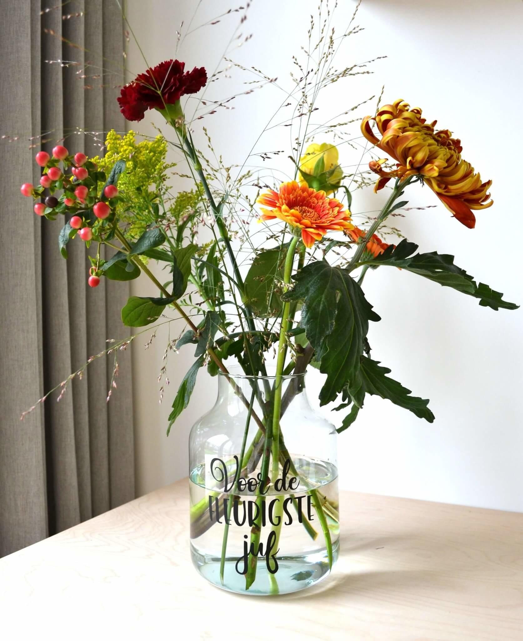 bloemen juf