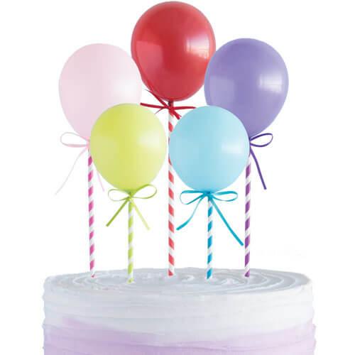 caketopper ballonnen taart