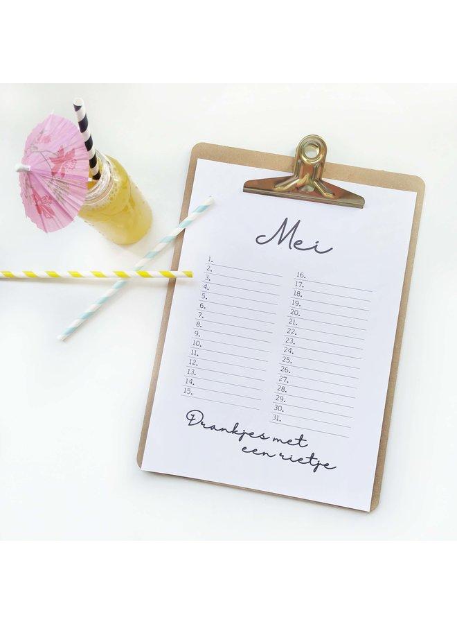 Printable kalender en poster mei