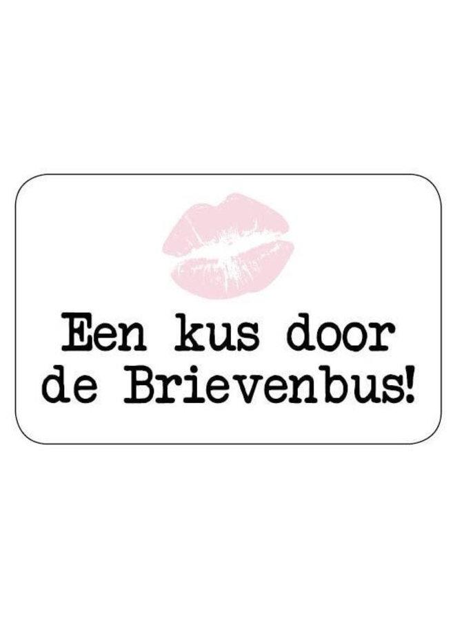 Sluitsticker - Een kus door de brievenbus 10x
