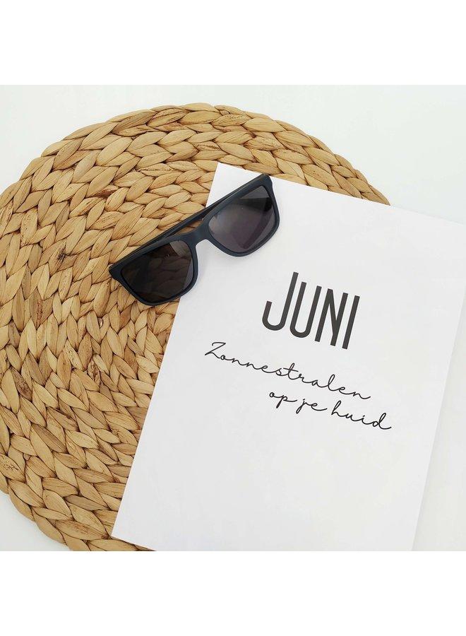 Printable kalender en poster mei juni