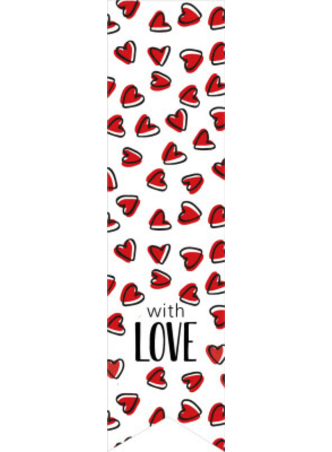 Sluitsticker vaantje hartjes with love 5x