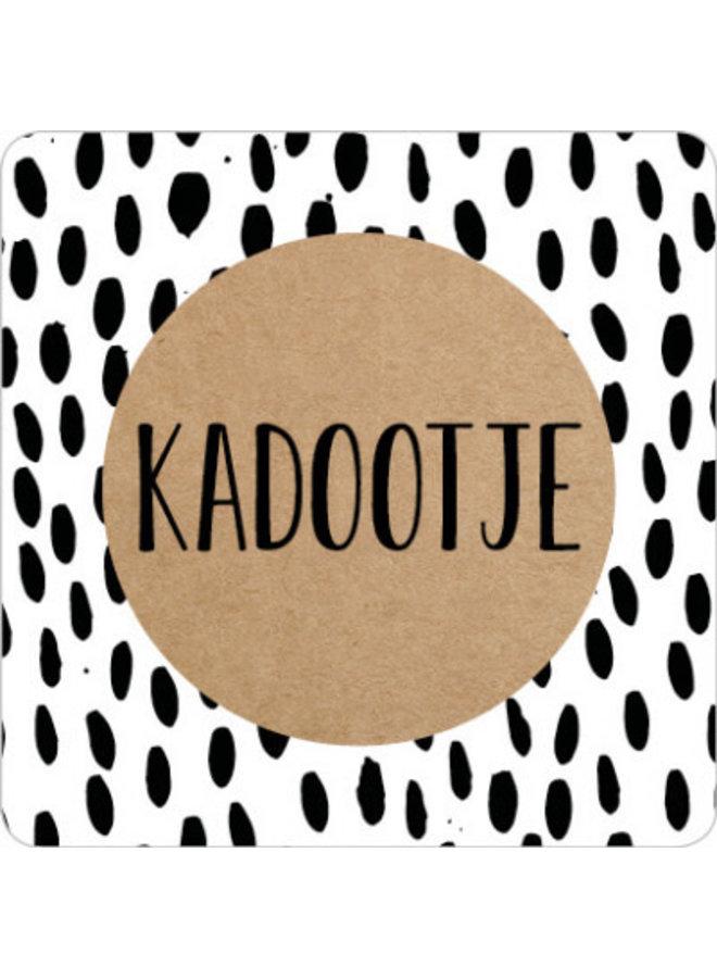 Sluitsticker Kadootje (vierkant) 10x