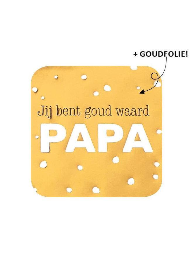 Sluitsticker jij bent goud waard papa 10x