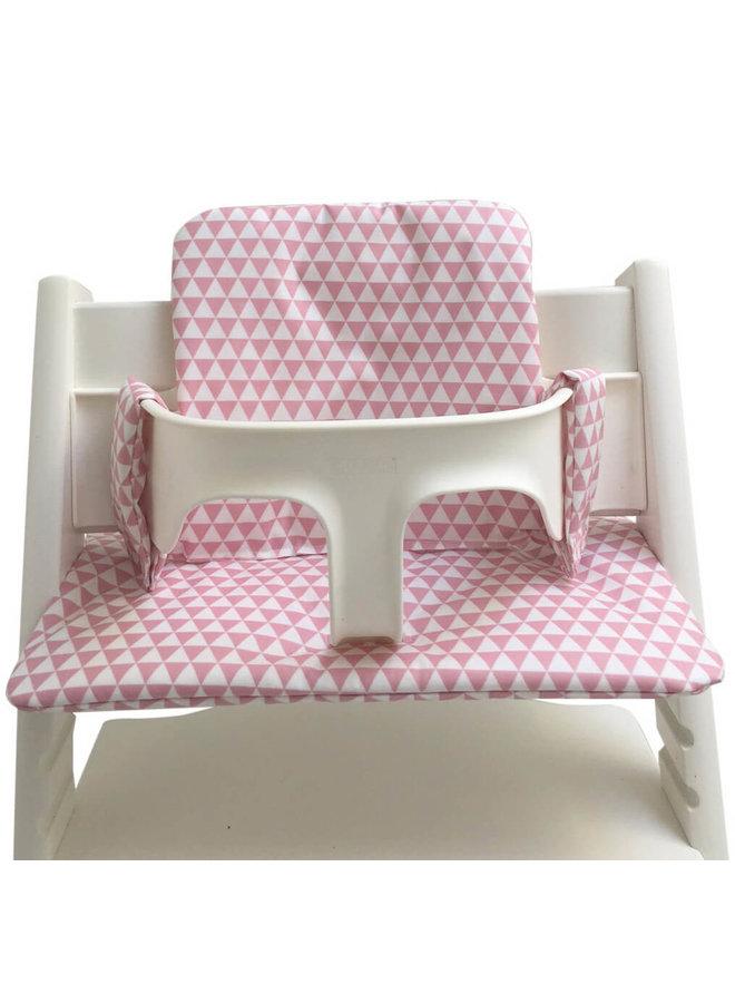 Stoelkussen triangle roze