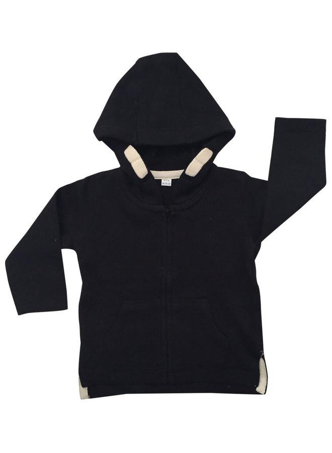 Zwart vest Follow me