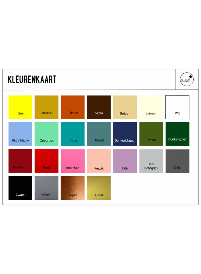 Samples kleurenkaart