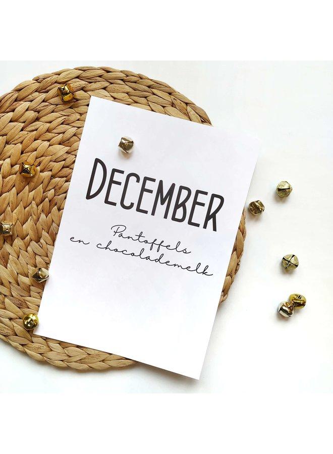 Printable kalender en poster december