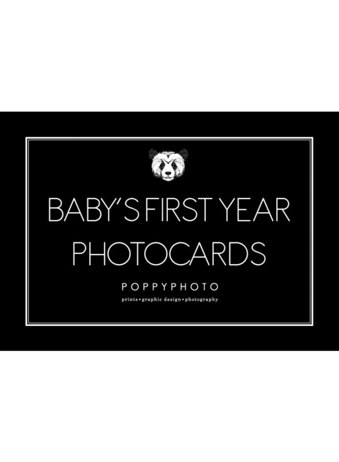 Baby's first year photocards.
