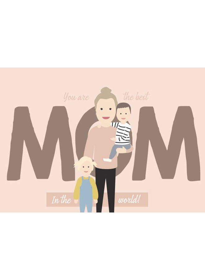 Best mom illustratie