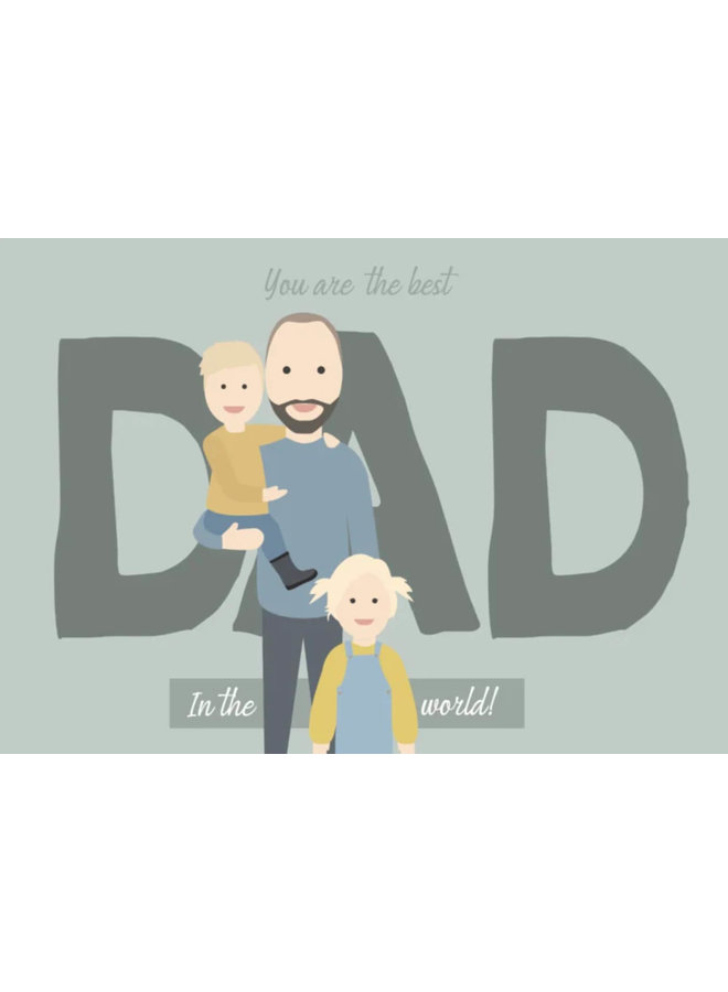 Best dad illustratie