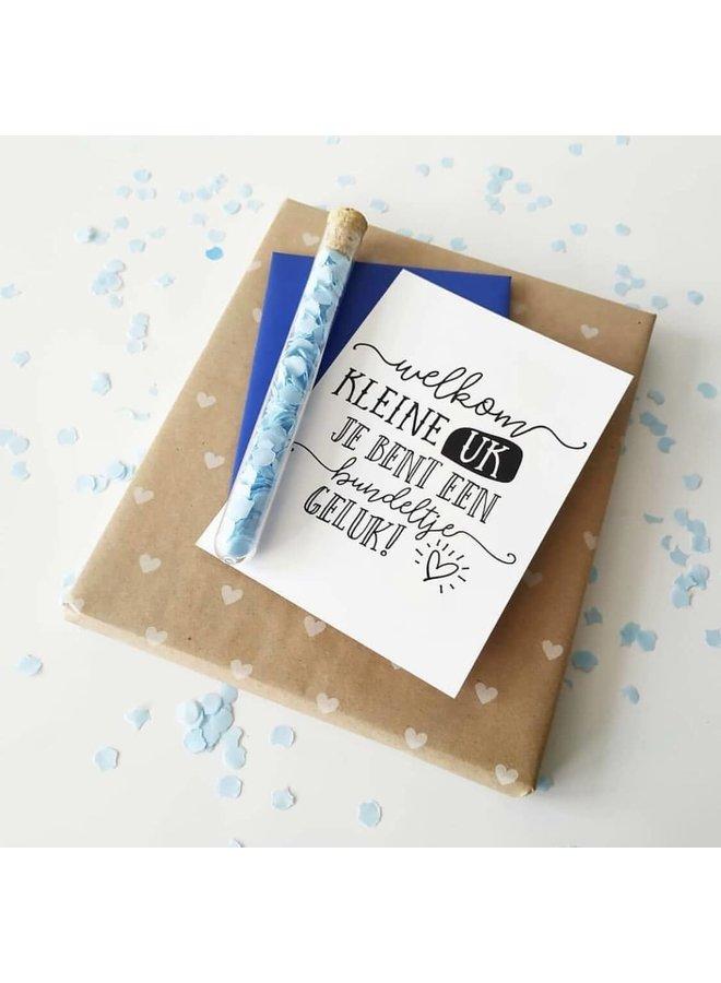 Blauwe confetti