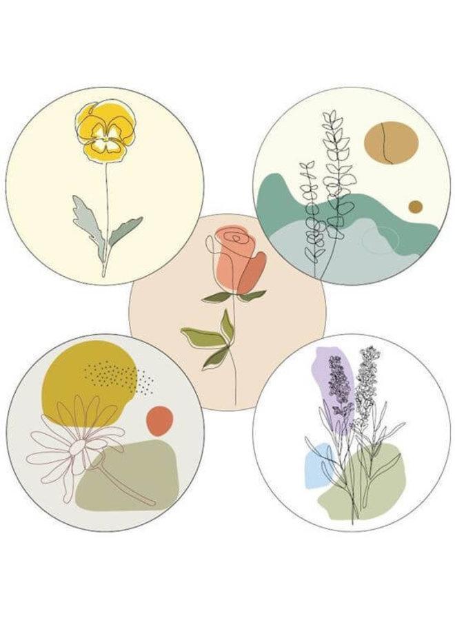 Sluitsticker Bloemen 10 x