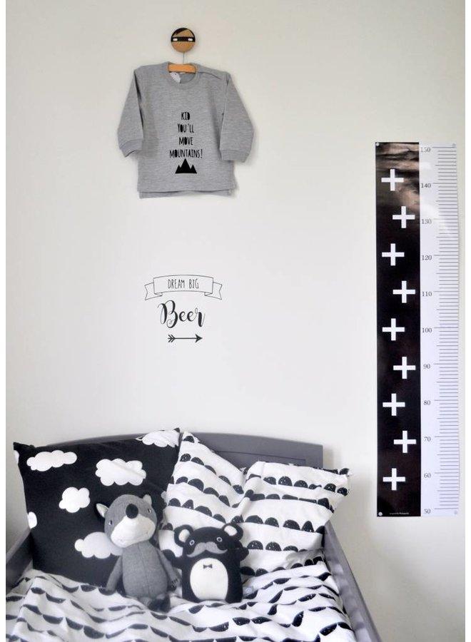 Naamsticker met banner en pijl