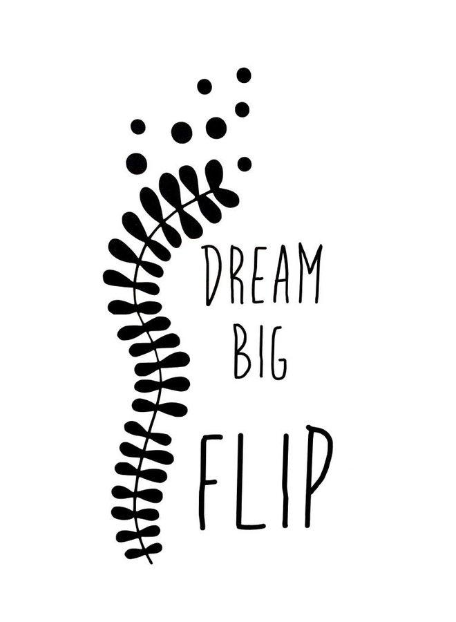 Naamsticker Dream big
