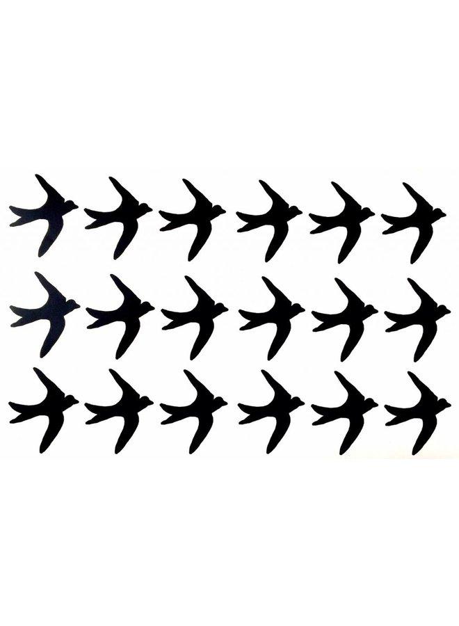 Muursticker vogel