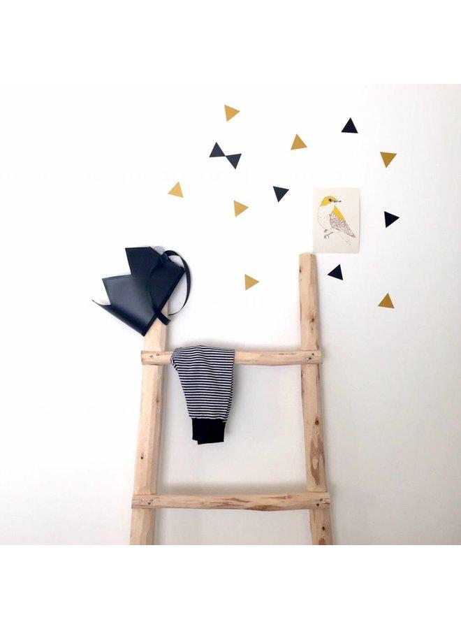 Muurstickers triangle mosterdgeel/ zwart