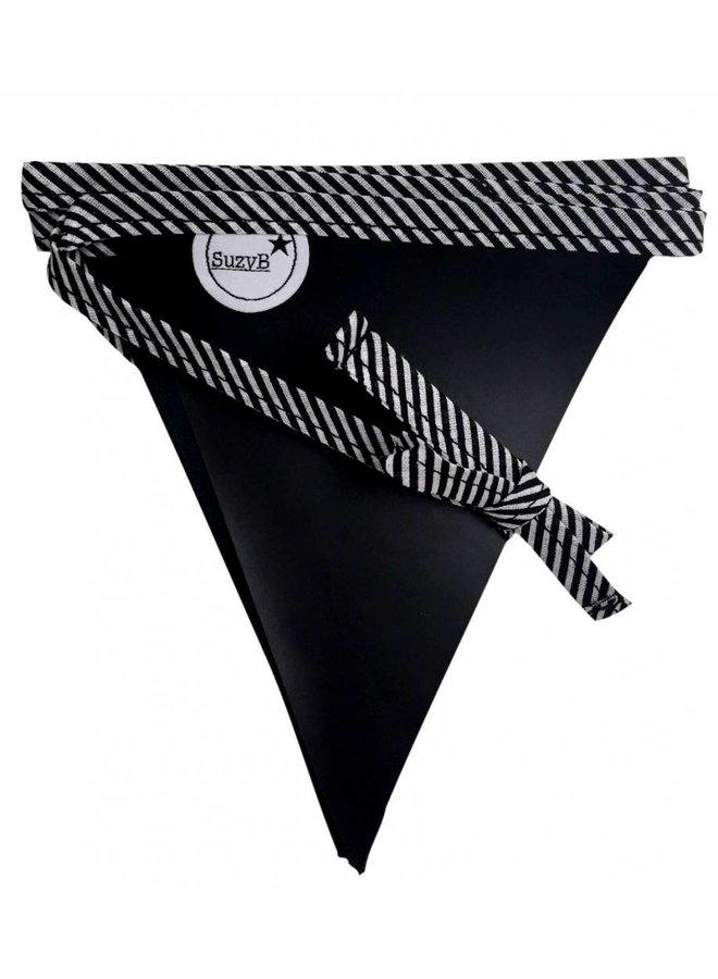 Krijtbordslinger zwart met witte strepen