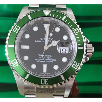 Rolex Submariner Date Ref. 16610 LV Fat Four NOS F3...unworn B&P