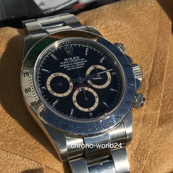 Rolex Daytona Zenith 16520 A9 tropical dial LC100 box/papers