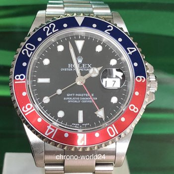 Rolex GMT - Master II 16710 Pepsi unpolished Box/papers 2006 TOP