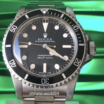 "Rolex Submariner 5513 Maxi MK3 ""Lollipop"" B&P & orig sales invoice"