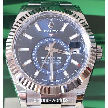Rolex Sky-Dweller Ref. 326934  blau blue 2018 box&papers  TOP