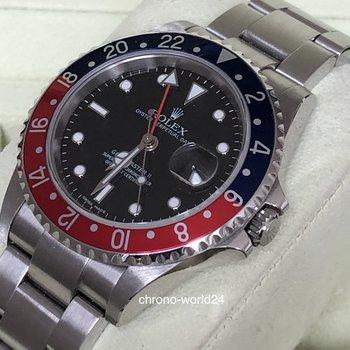 Rolex GMT-Master II 16710 Pepsi Z Series/Stick dial/new Rolex Service Full Set