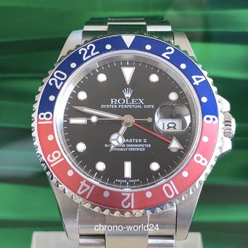 Rolex GMT - Master II 16710 Pepsi LC100 2004 Box/papers new Service