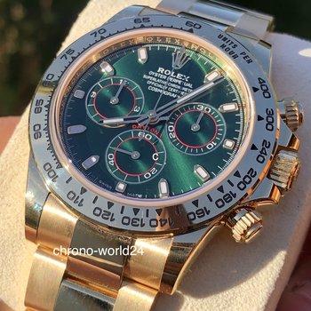 Rolex Daytona 116508  unworn 2019 green dial box & papers