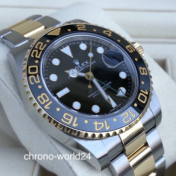 Rolex GMT-Master II 116713LN 2017 unpolished Box Papers TOP