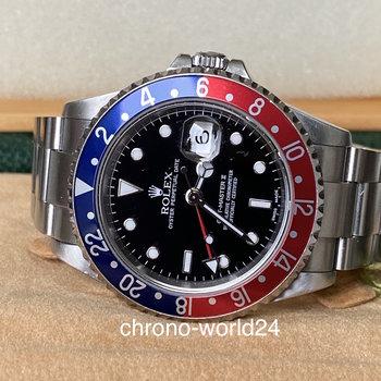 Rolex GMT-Master II 16710 Pepsi 2004 unpolished Full Set LC EU TOP
