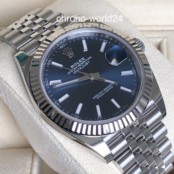 Rolex Datejust 41 126334 blue/blau unworn 2020 LC100  box/papers