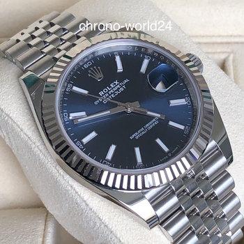 Rolex Datejust 41 126334 blue dial unworn 2020 box/papers