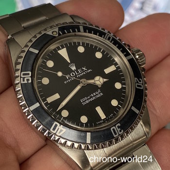Rolex Submariner 5513 meters first, 1969, MK3 blue/black, all original, TOP