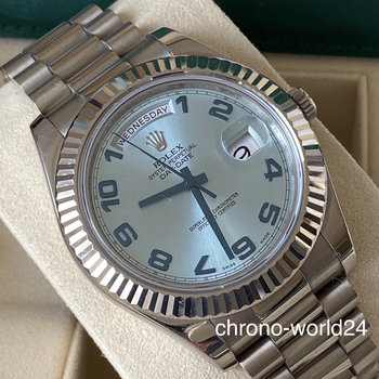 Rolex Day Date II 218239 2015 ice blue + orginal ivory dial FULL SET EU